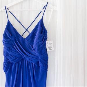 David's Bridal Dresses - *net* Cobalt bridesmaid dress